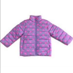 NWT💜💗 Toddler Girl Purple Puffer Jacket w hearts